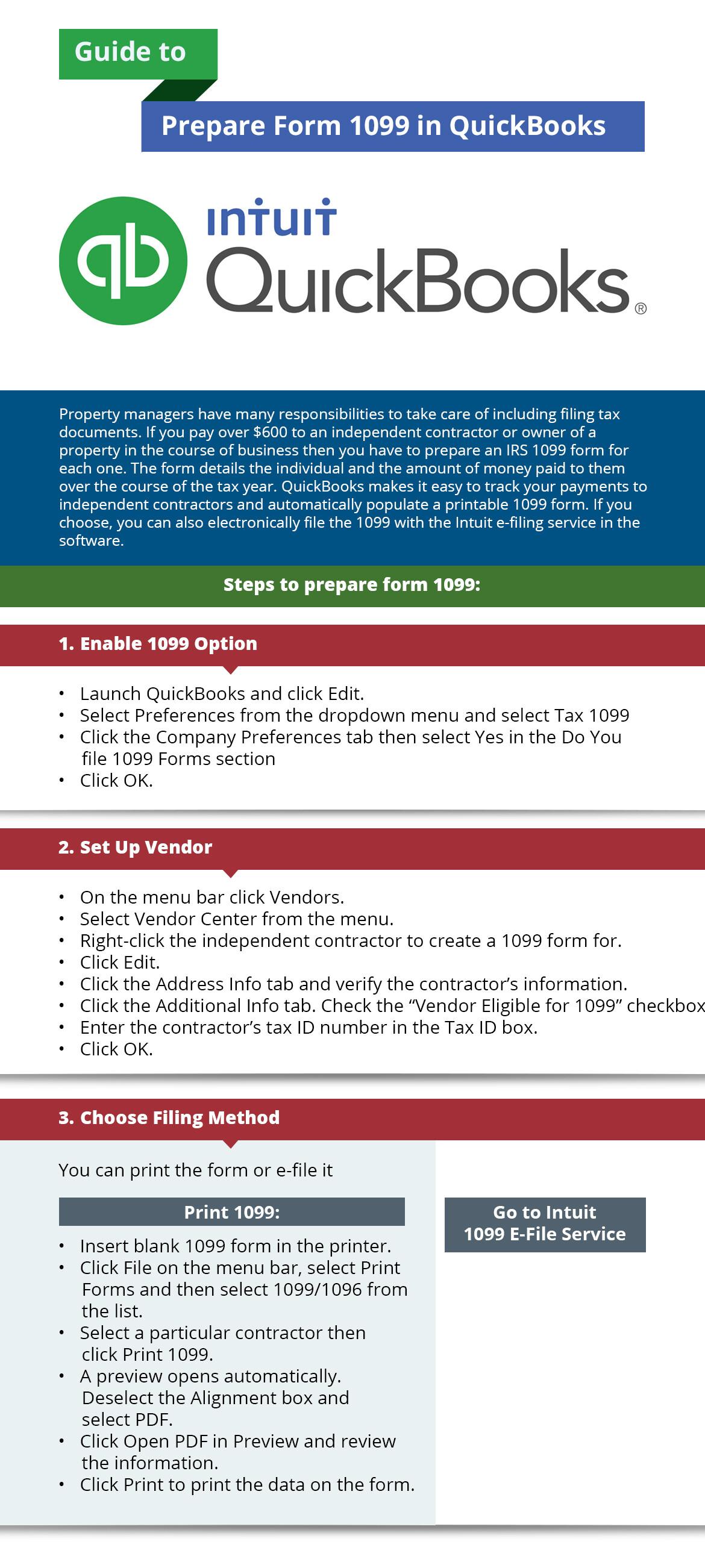 Smartfin services guide to prepare form 1099 in quickbooks falaconquin