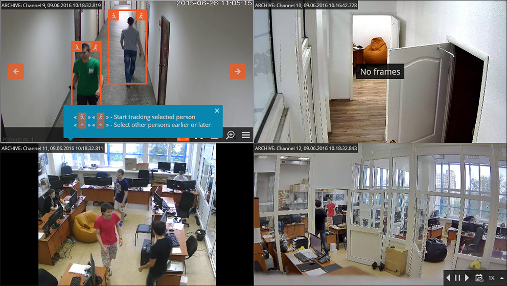 Suspect tracking Intelligent module (video analytics) in ULTRA Video Management Software