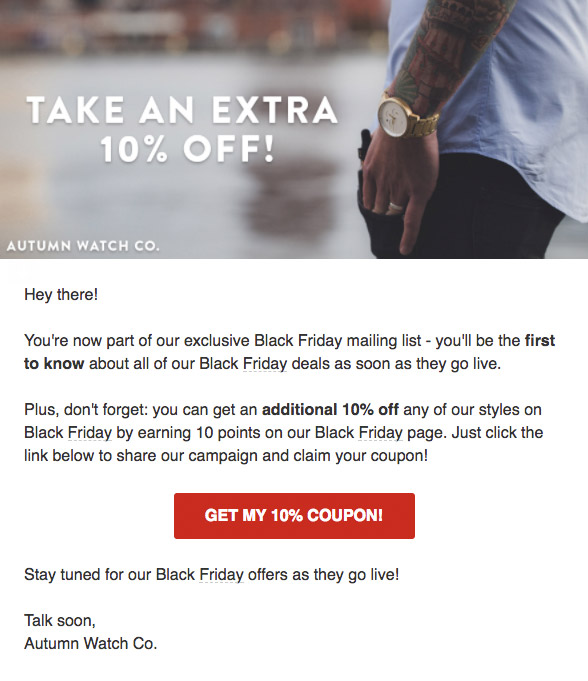black friday marketing campaign