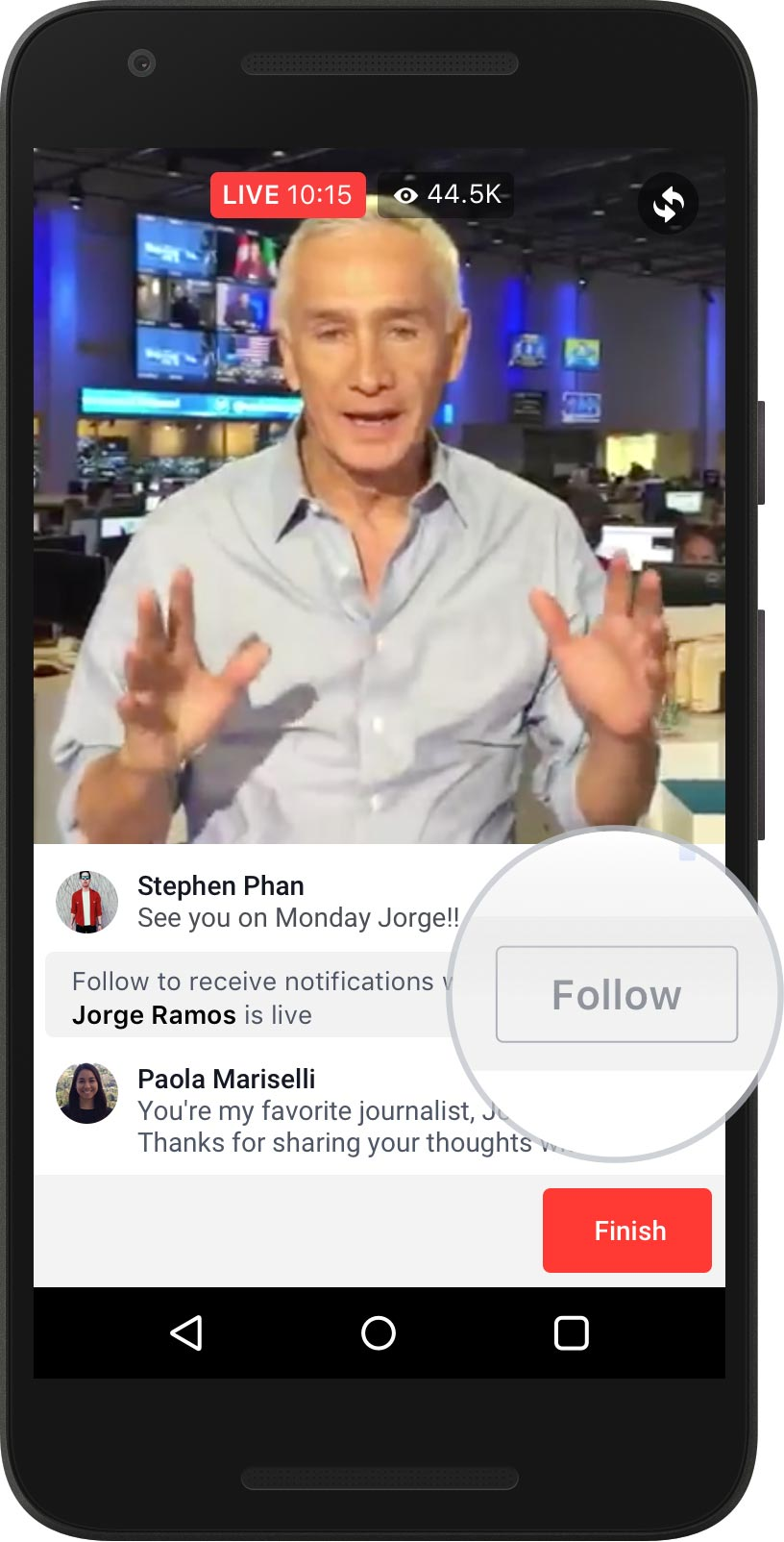 facebook live video application