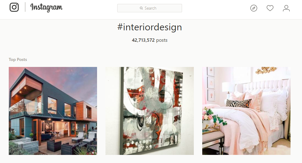 How to use hashtags and geotags to grow your brand on instagram for Interior design instagram hashtags
