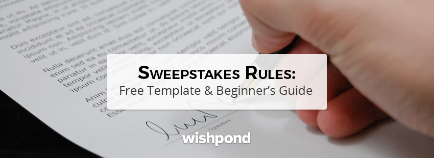 Sweepstakes Rules: Free Template & Beginner's Guide