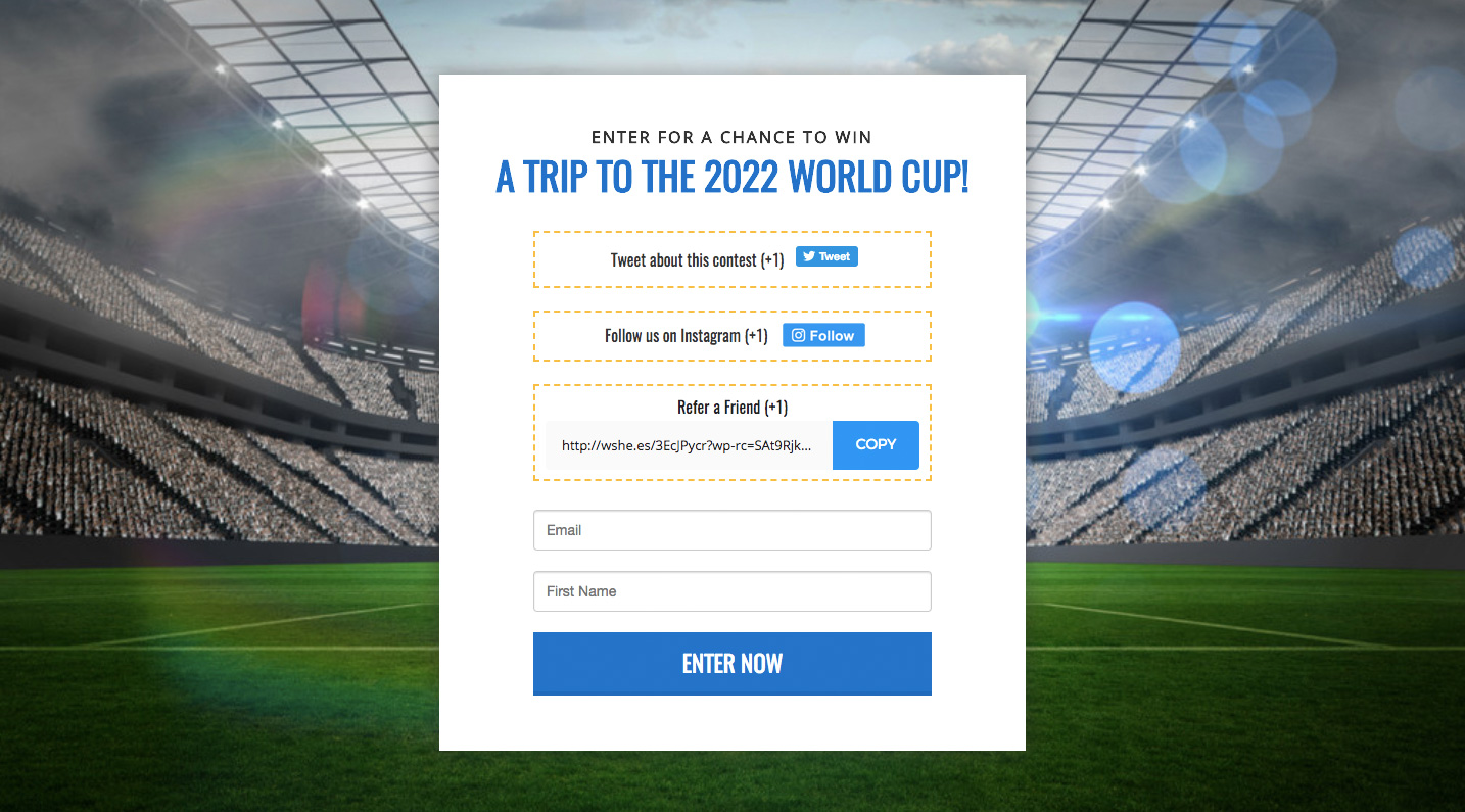 world cup contest ideas