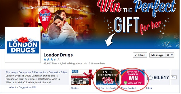 Email Lead Generation Technique: London Drugs Contest