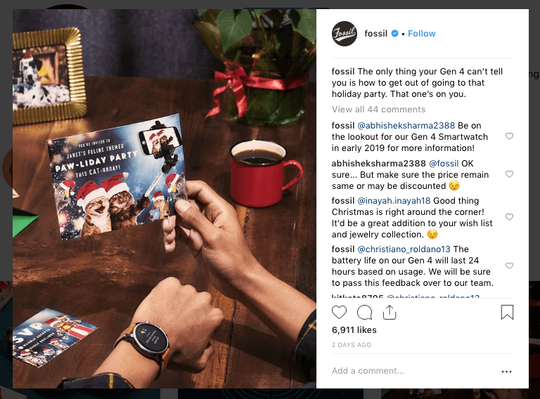 holiday instagram marketing