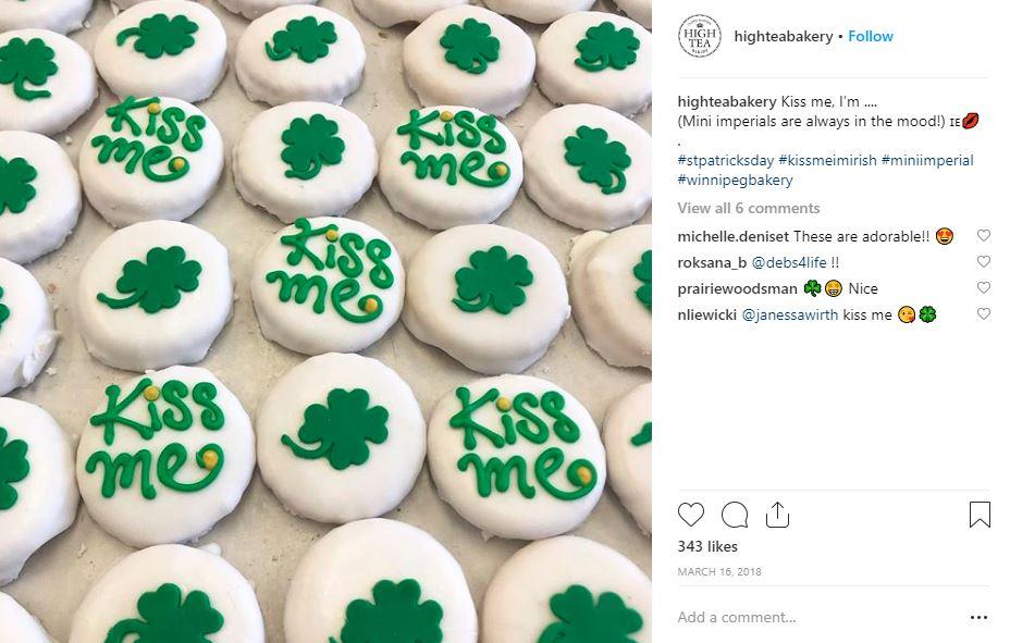 St. Patricks Day social media