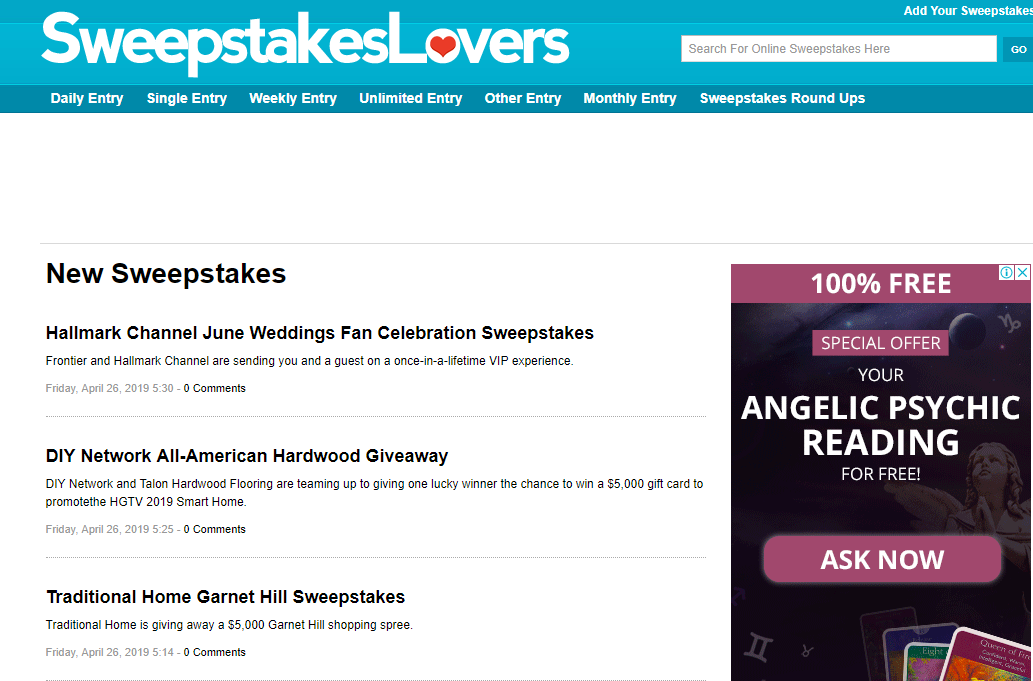 top sweepstakes sites top 18 contesting websites to post your contest 4416