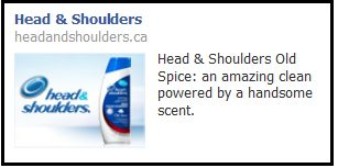 Head & Shoulders Facebook ad