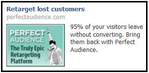Perfect Audience Facebook ad