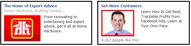 Representation of the red colour in Facebook ads