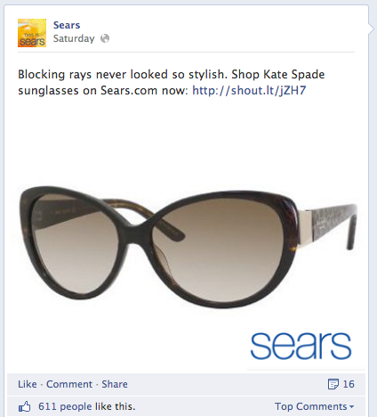 A Facebook post by Sears