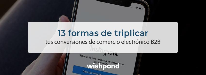 13 formas de triplicar tus conversiones de comercio electrónico B2B