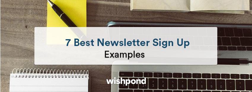7 best newsletter sign up examples network 7 newsletter 7 newsletter #6
