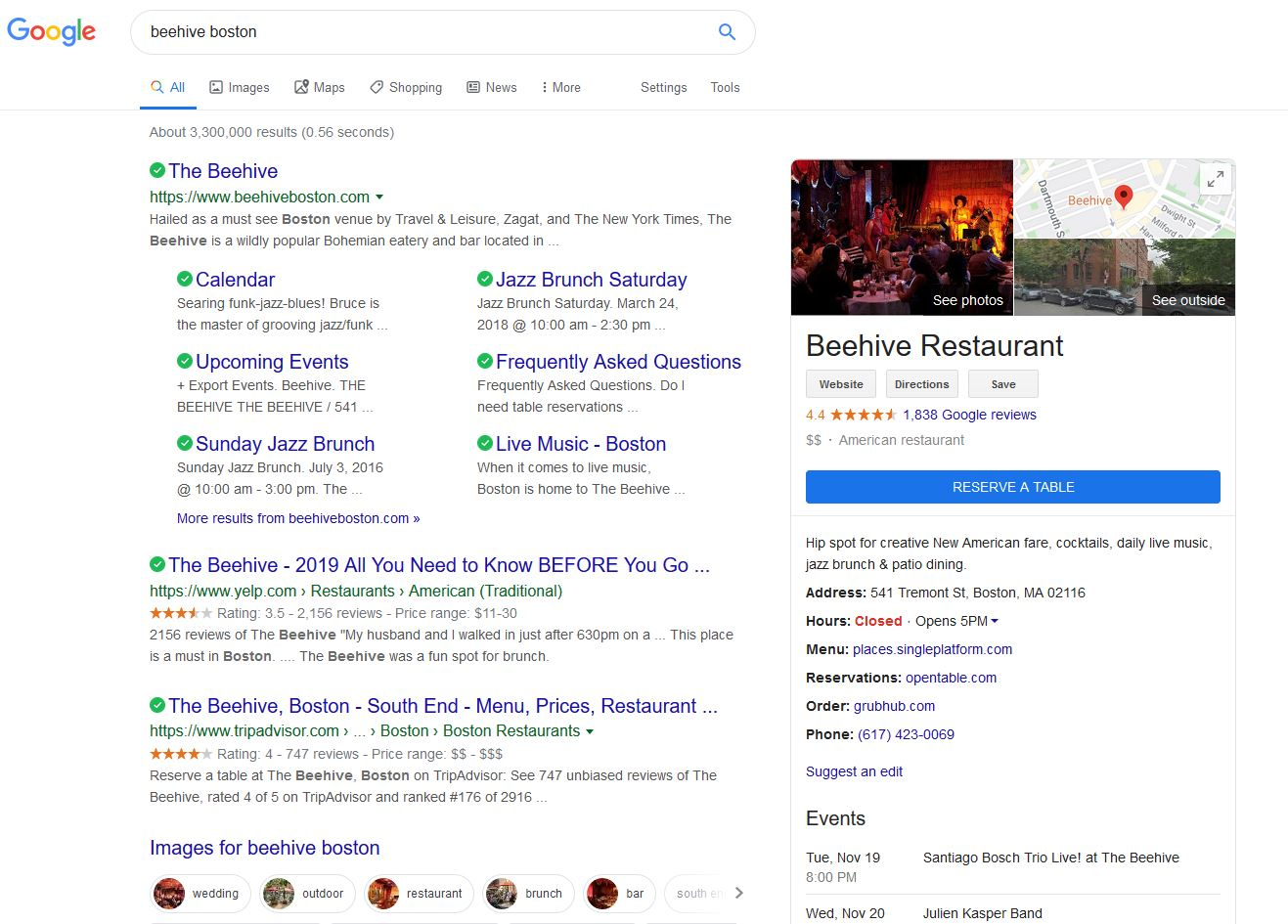 google mybusiness restaurant