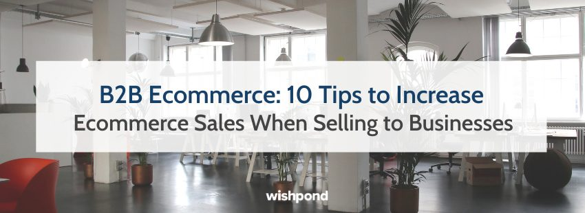 B2B Ecommerce: 10 Tips to Increase Ecommerce Sales When Selling to Businesses