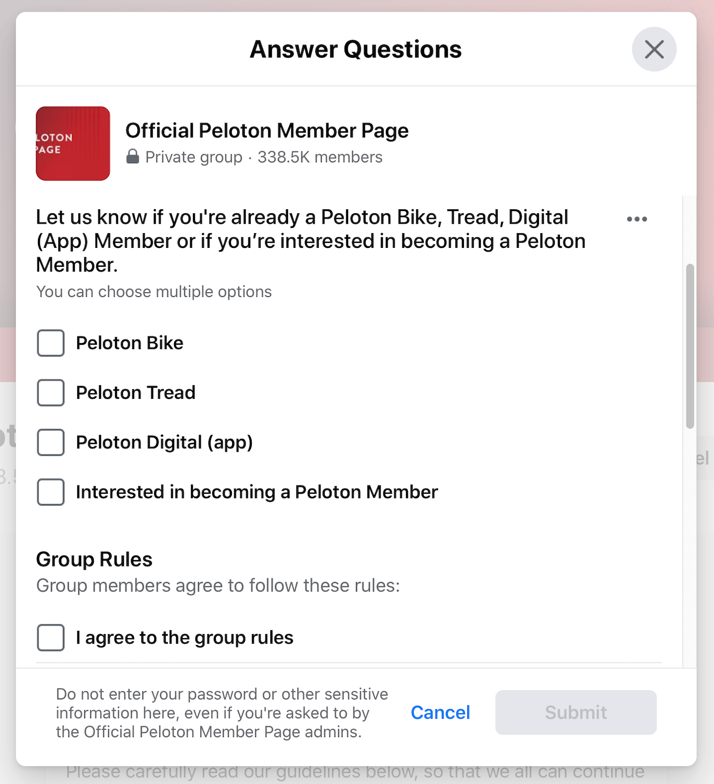 FB Group Filter Questions