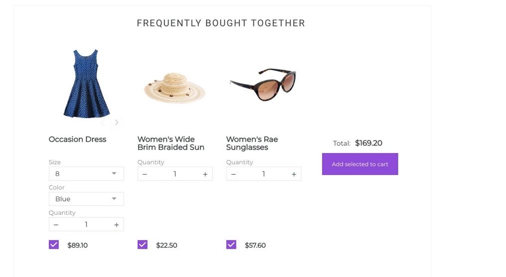 Shopify Bundle features