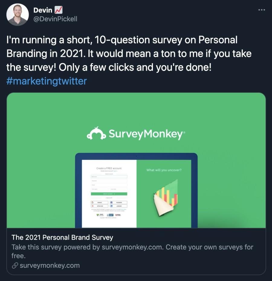 Social media Surveys
