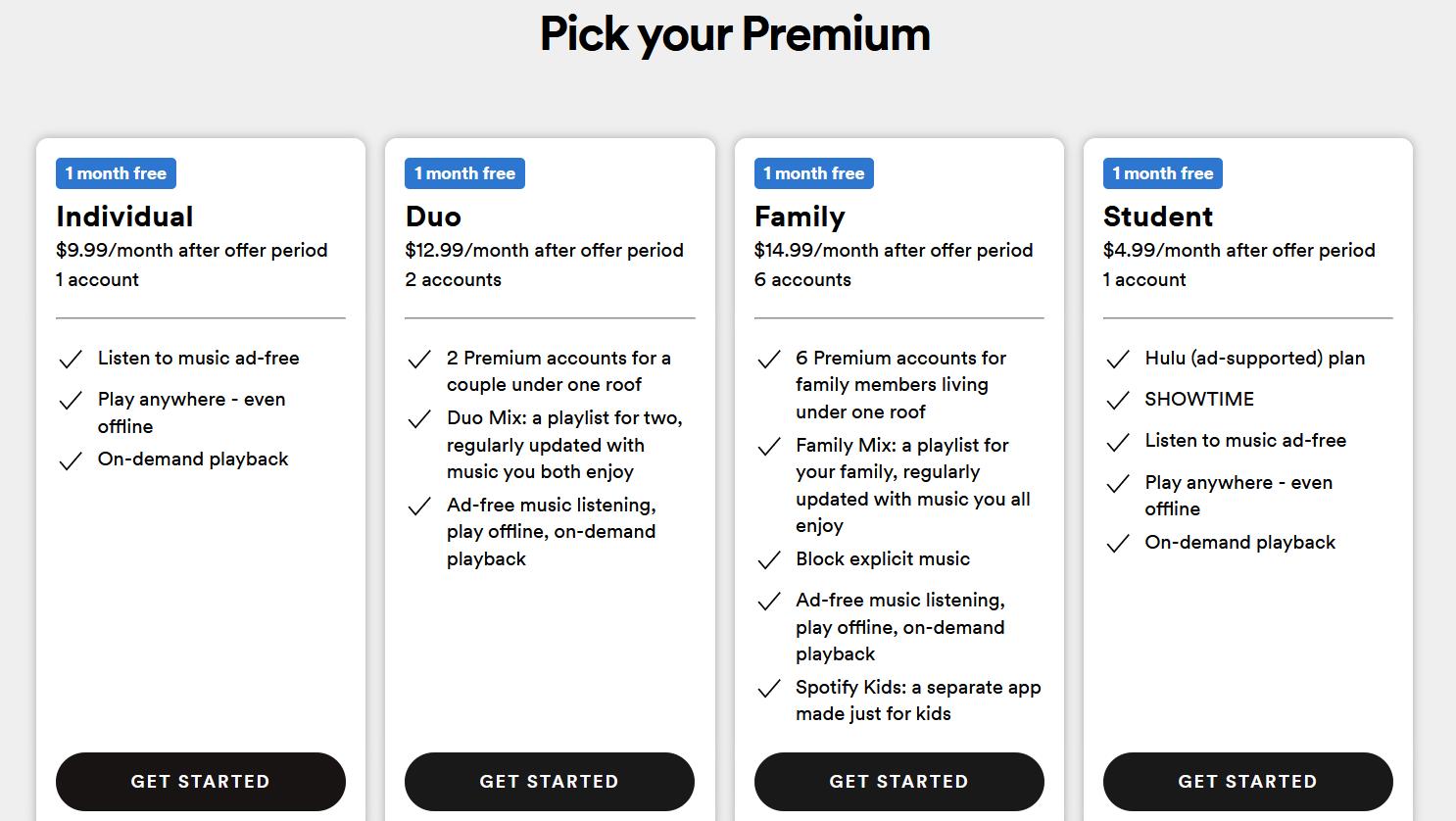 Spotify Bundle package