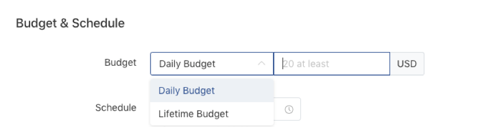 TikTok ads budget