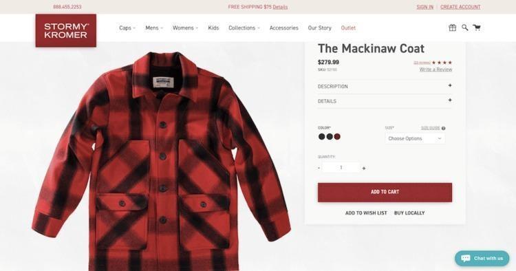 Bigcommerce Mackinaw Coat Product Image