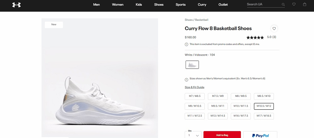 Curry Flow 8 360-Degree Product Image