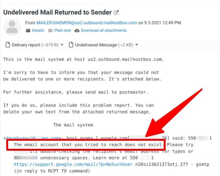 Email Address Invalid
