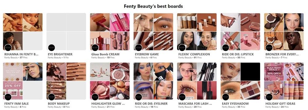Fenty Beauty's Best Boards
