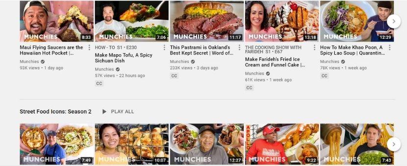 Munchies YouTube