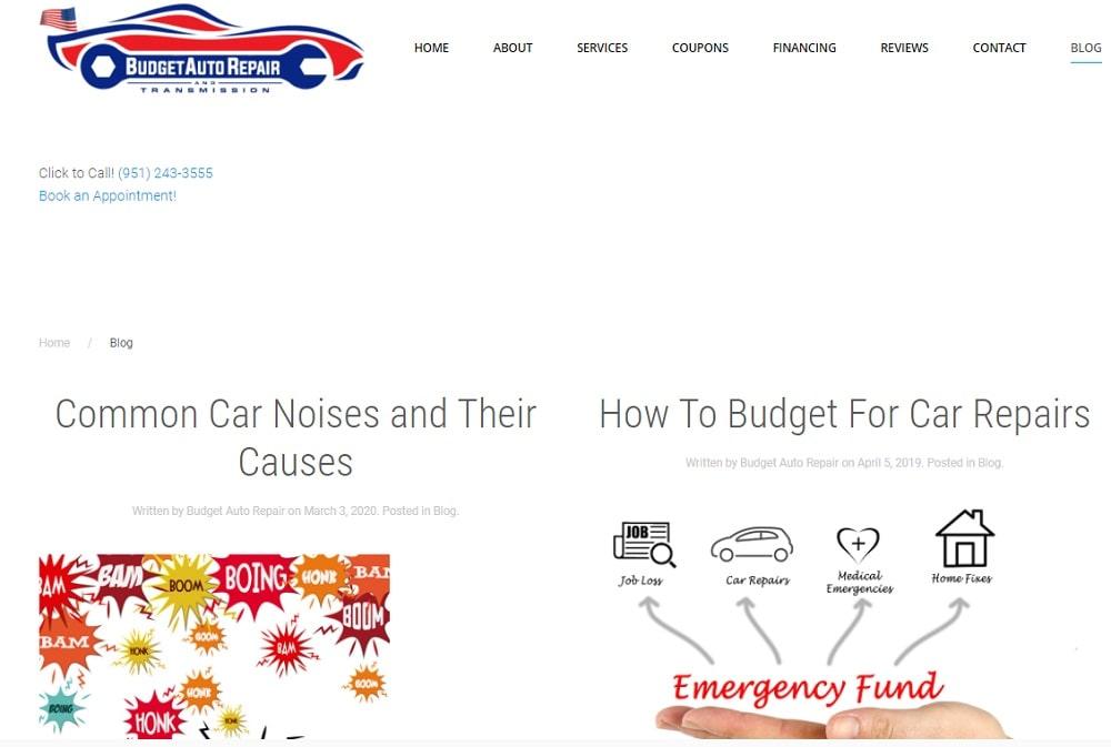 Budget Auto Repair Blog