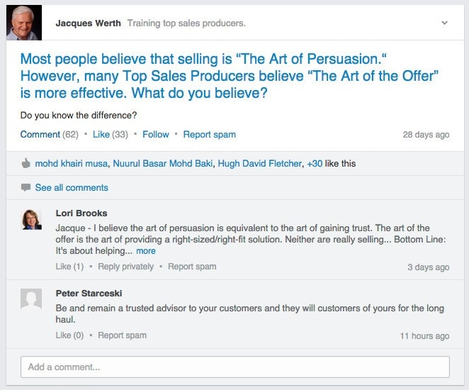LinkedIn Group Automation Example