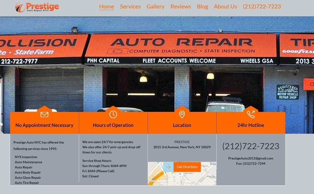 Prestice Auto Repair Website