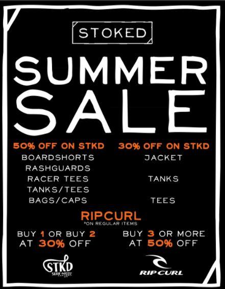 RipCurl Summer Sale