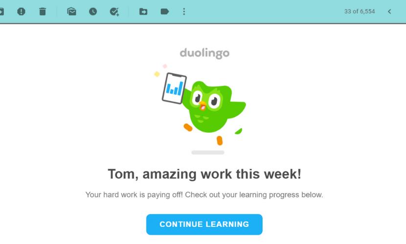 Duolingo greeting