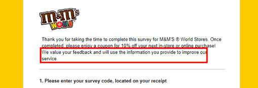 M&Ms email