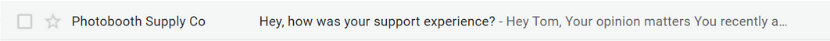 email headline question