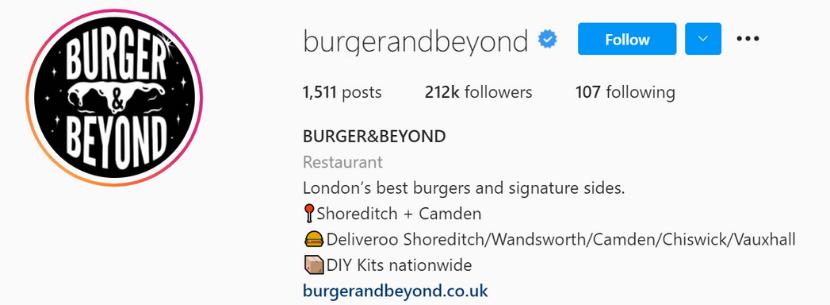 Burger&Beyond Instagram
