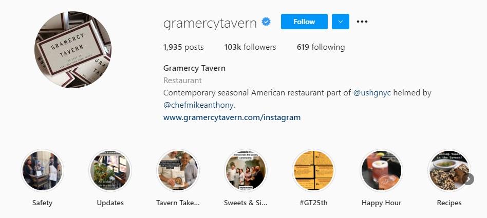 Gramercy Tavern Story Highlights