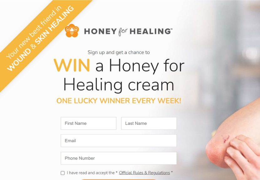 Contest landing page