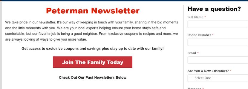 Plumber newsletter