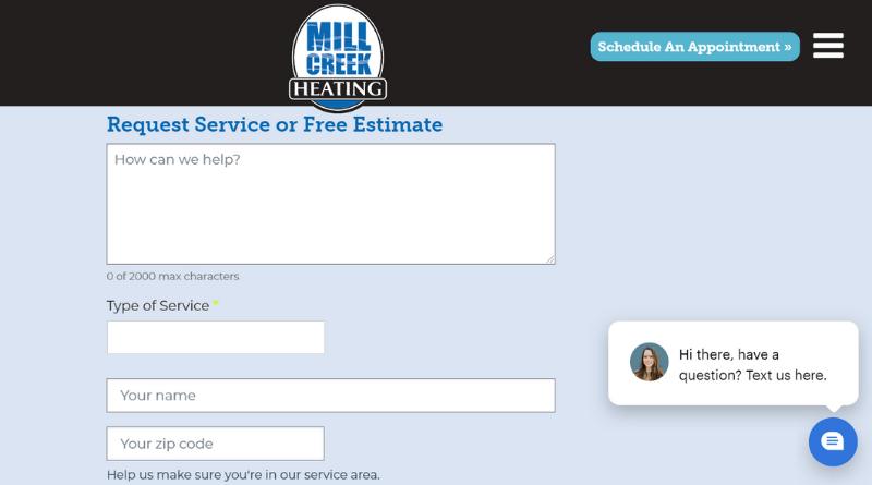 HVAC online form