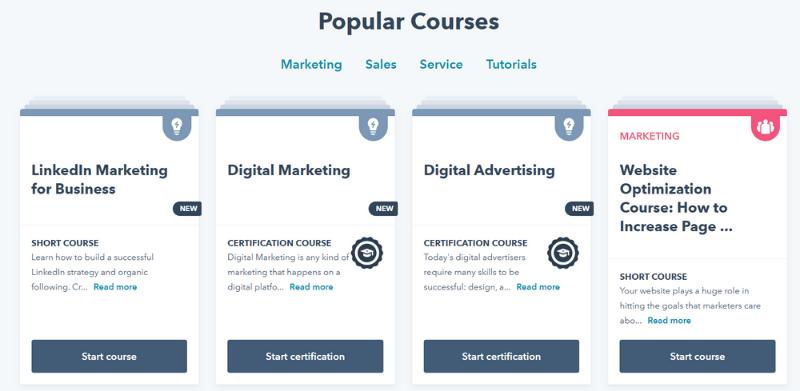 Hubspot courses