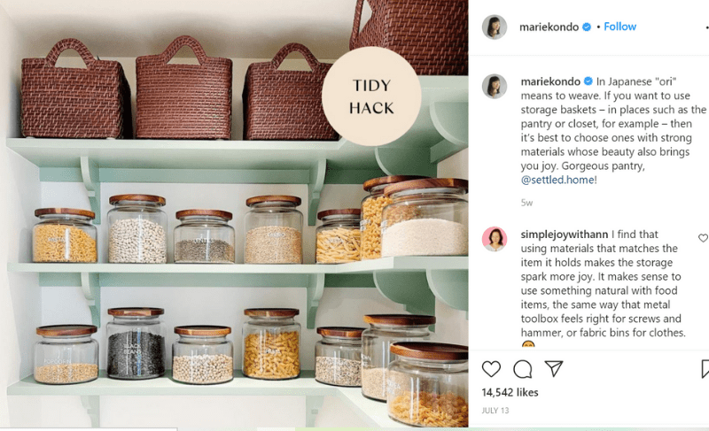 Marie Kondo tidy hack