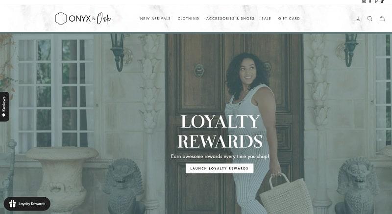 Onyx and Oak Loyalty Rewards