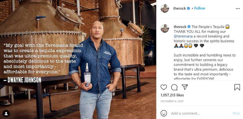 The Rock Instagram
